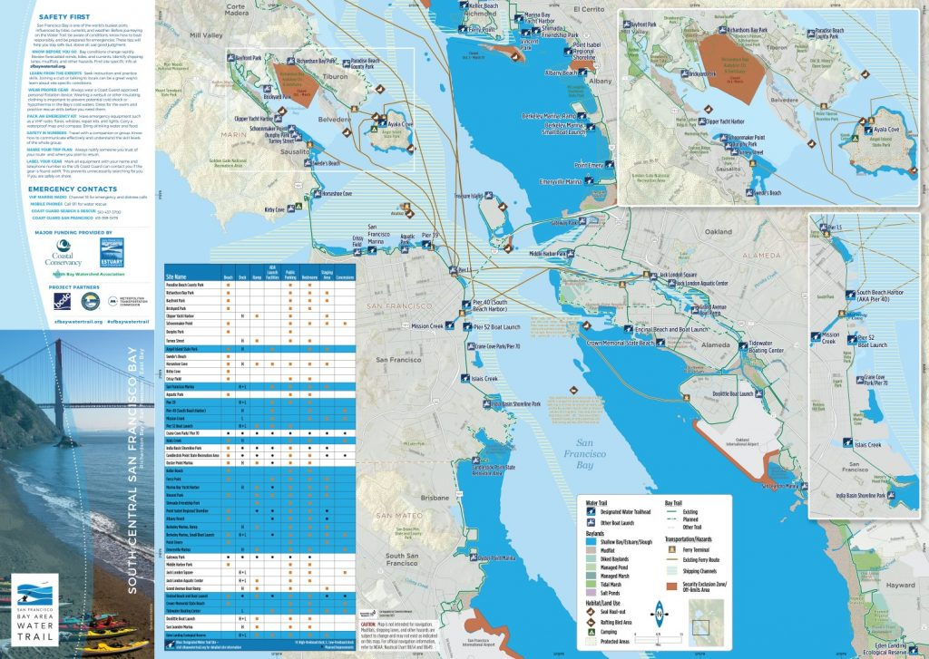 print map of South Central SF Bay