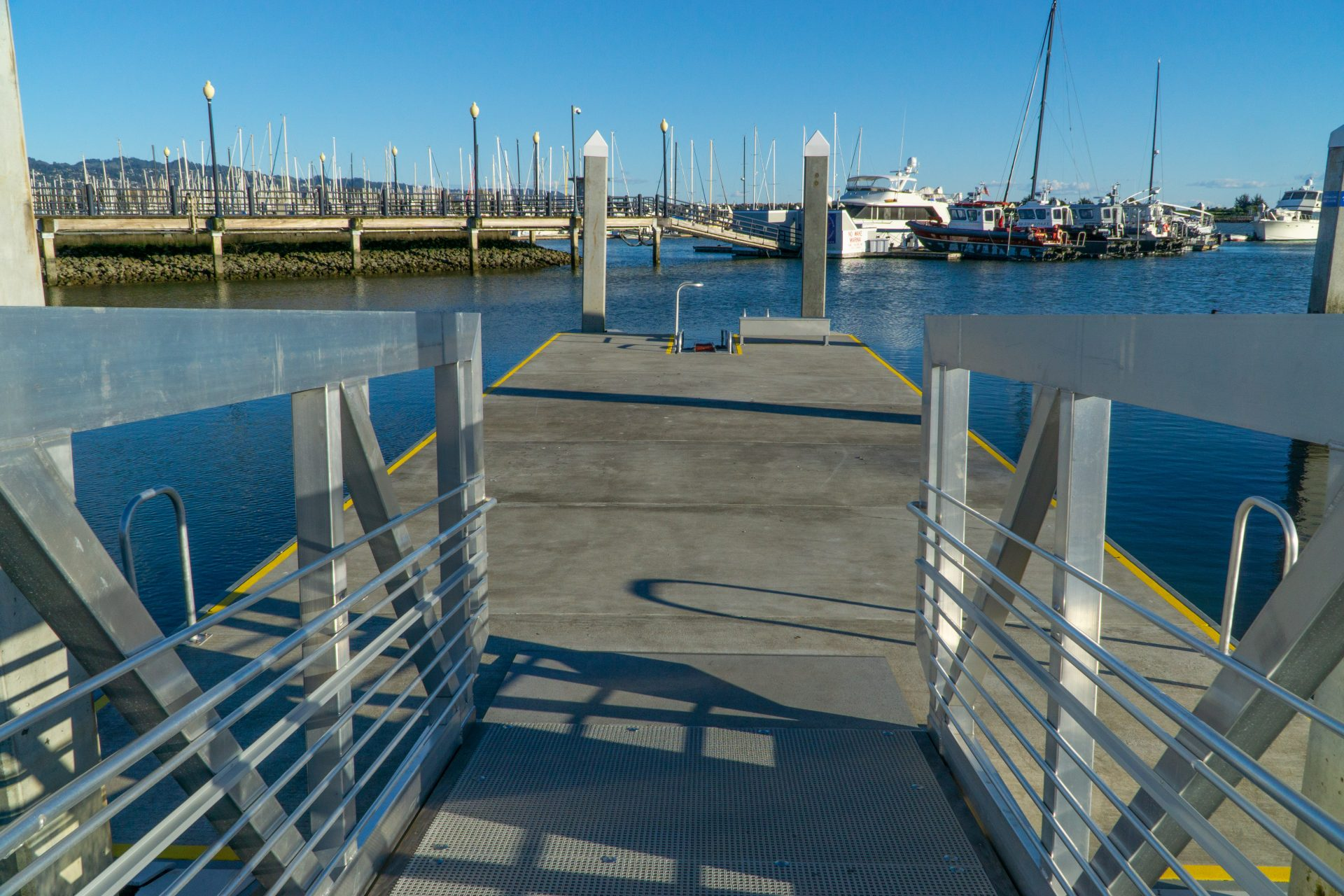 ramp onto kayak-friendly pier