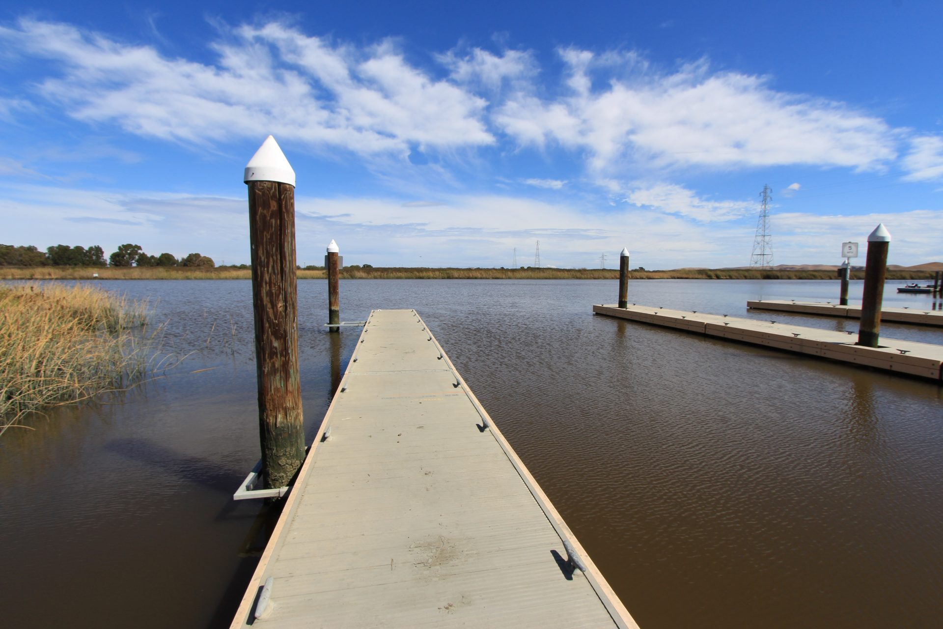 Looking out over floating dock