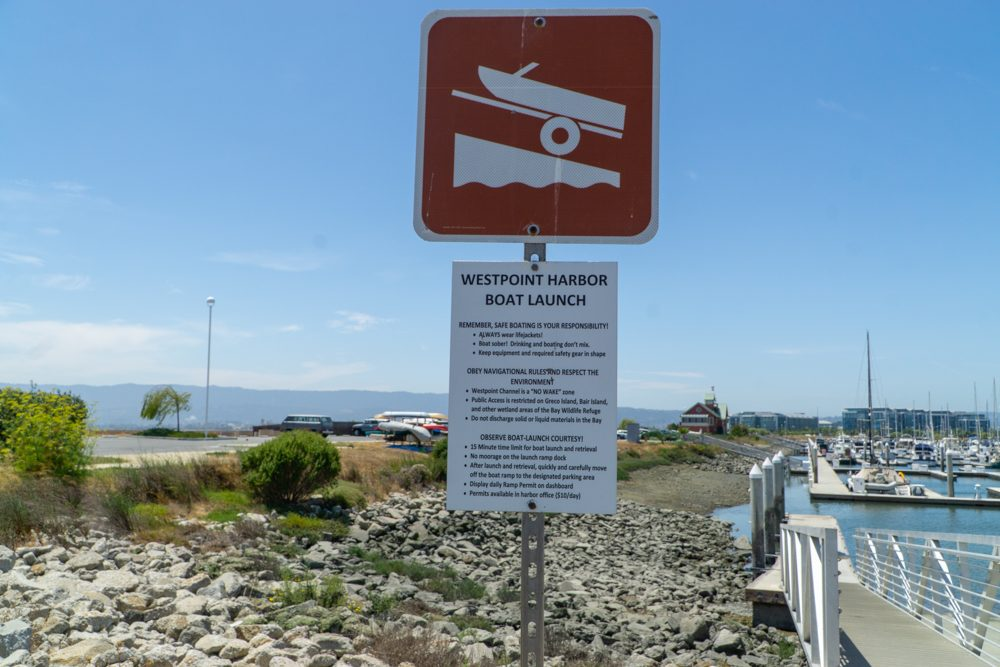 Sign for boat launch