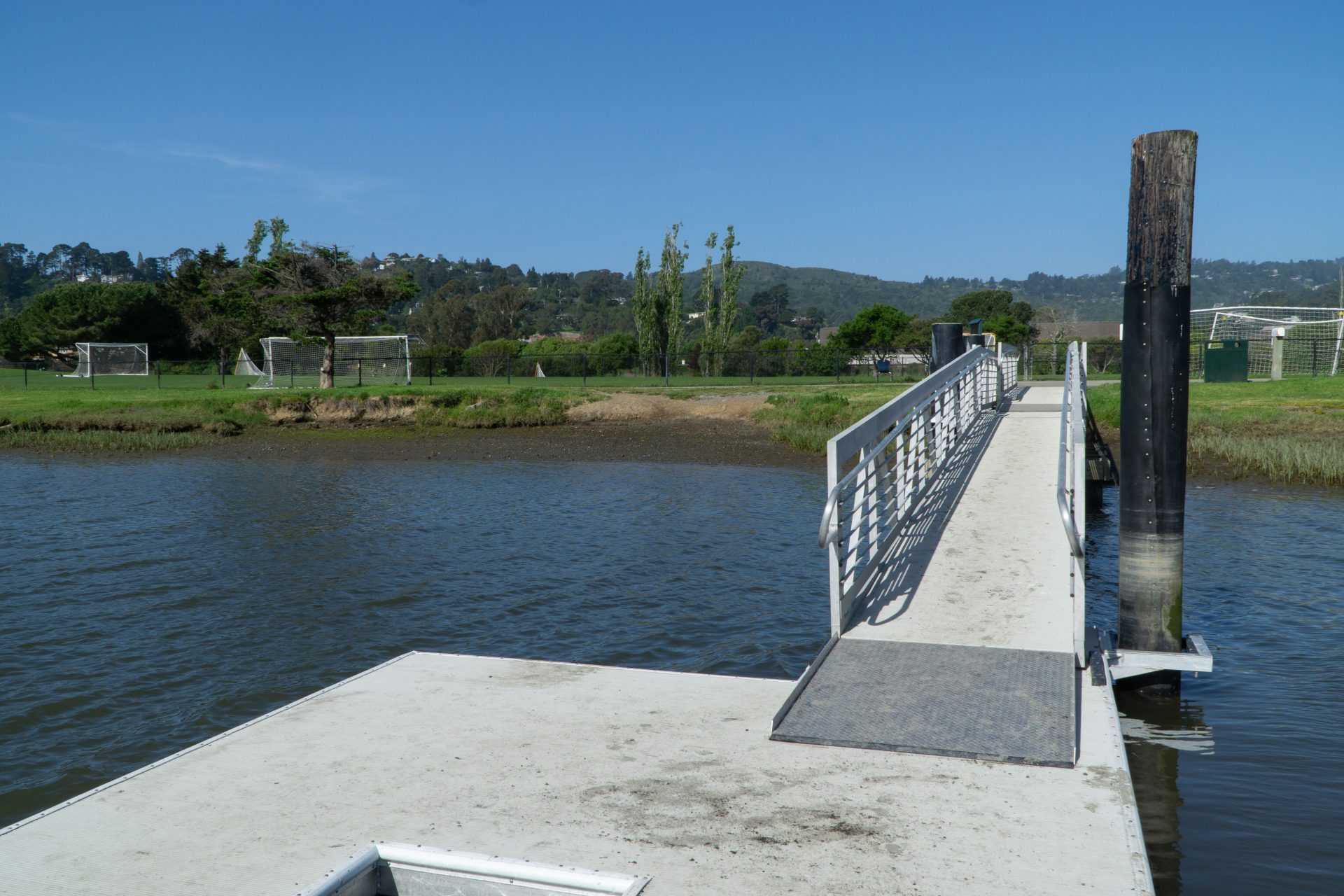 View back up ramp to shore