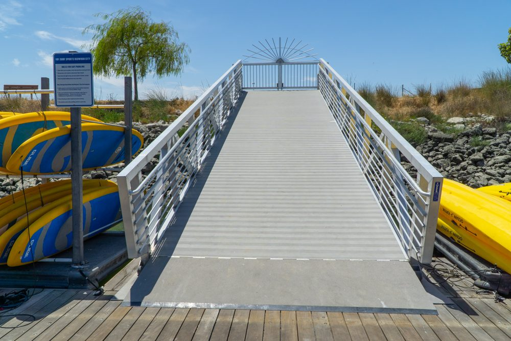 ramp from pier to shore